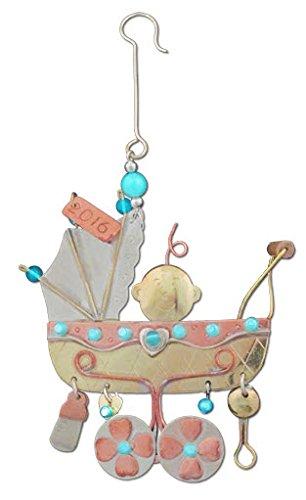 BD vacaciones Collection- bebé bebé en carrito Metal adorno de vacaciones