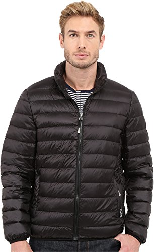 Tumi Men's Patrol Packable Travel Puffer Jacket Black Outerwear MD