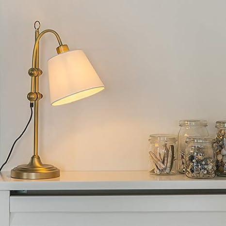 QAZQA Clásico/Antiguo Lámpara de mesa clásica bronce con ...