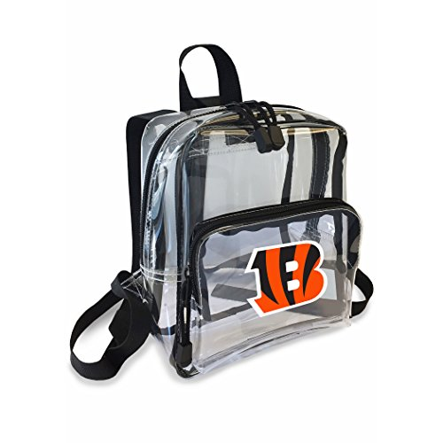 The Northwest Company Officially Licensed NFL Cincinnati Bengals Unisex X-Ray Mini Stadium Friendly Transparent Backpack