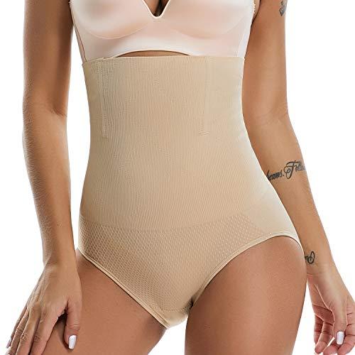 Hi-Waist Shapewear Control Briefs Underwear - Butt Lifter Underwear, Breathable Seamless Butt Knicker for Women