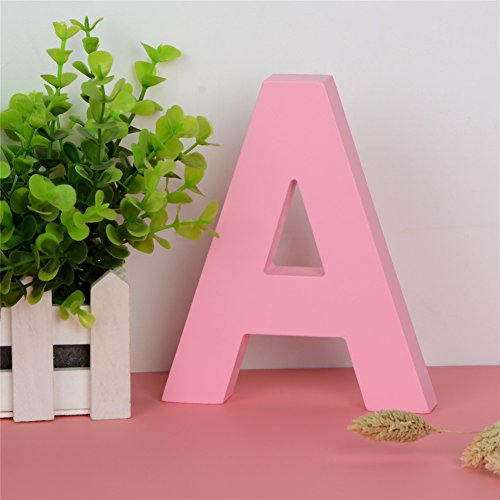 Hanging Room Wooden Decor Letter (Decorative Wood Letters A Hanging Wall 26 Letters Wooden Alphabet Wall Letter for Children Baby Name Girls Bedroom Wedding Brithday Party Home Decor-Letters)