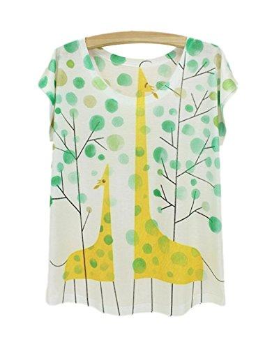 moda Acvip mujer de con manga de Camiseta poli de corta IwqU5xpUt
