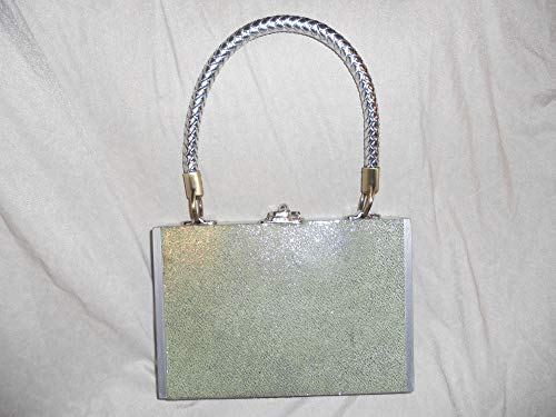 Cigarbox Purse, Pale Mint Green Embossed Italian Leather, Tina Marie Purse Purse, Vintage
