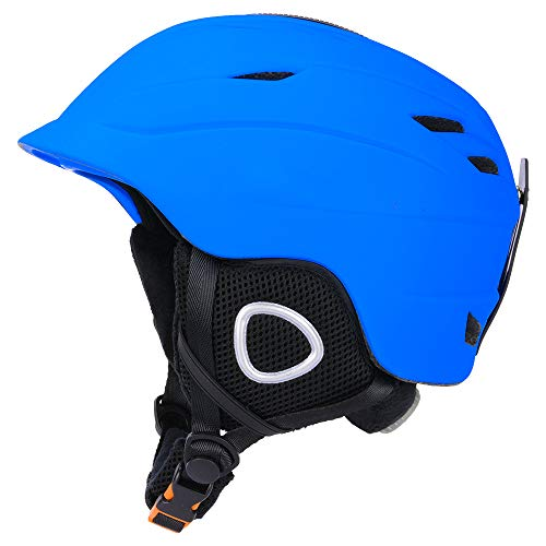 GIORO Multi Snow Sports Helmet,Unisex Adult Lightweight Outdoor Skiing Snowboard Helmet with Fleece Liner and Carrying Pouch (Blue, - Youth Snow Helmet