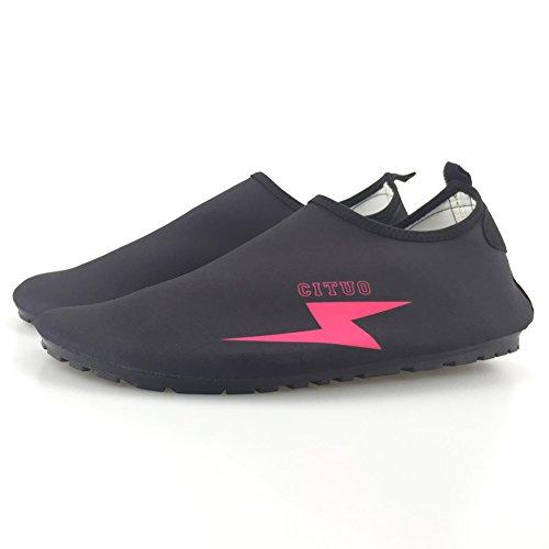 Senfi [geüpgrade Ver Sneldrogend Op Blote Voeten Water Sport Aqua Schoenen Voor Strand Surfboot Snorkelen Zwemmen F.roze
