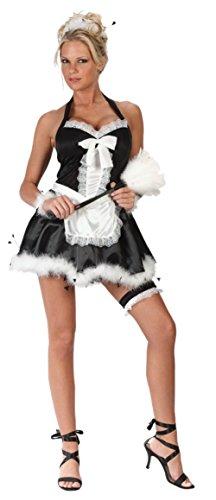 Upstairs Maid Costumes (Funworld Womens Sweet Sexy Upstairs Maid Halloween Theme Party Costume, Medium/Large (8-14))
