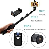 US1984 1288 Bluetooth Selfie Stick for Smartphones and Monopod for Action Camera and Digital Camera with Bluetooth Remote