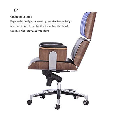 Kontorsstol med hög rygg, fejkläder stor säte datorbord och stol, ergonomisk design, justerbar sitthöjd