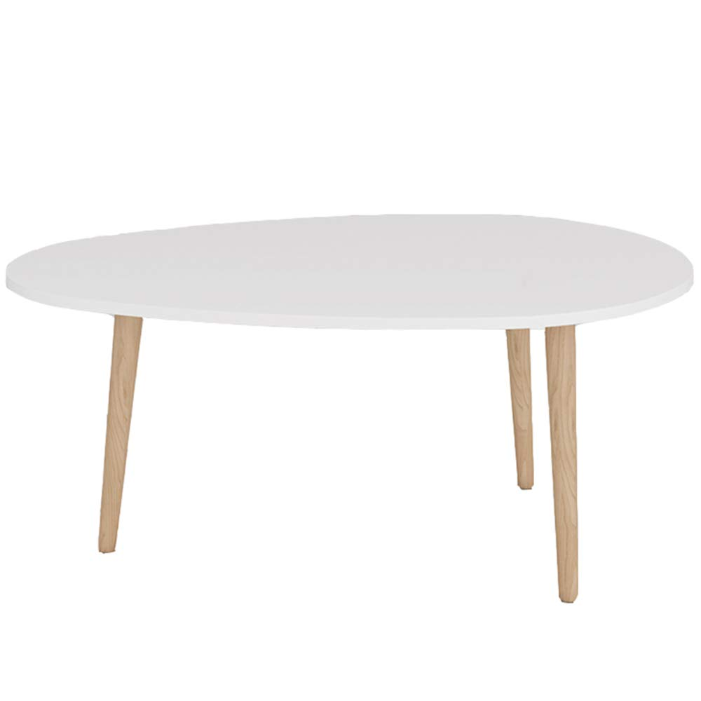 ZAYBJ XRXY Side Table, Stable Solid Wood Stitching Color Side Table Mini Balcony Round Coffee Table Sofa Side Simple Small Round Table (Color : C-White, Size : L) by ZAYBJ
