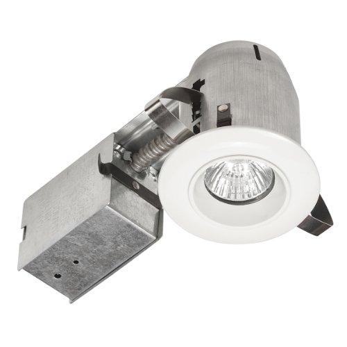 Globe Electric 90305 3 inch Recessed Lighting Kit, Die-Cast Regressed Lighting Kit, White Finish, Spot Light