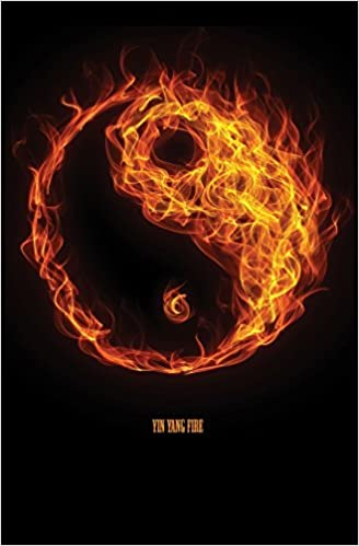 Yin Yang Fire 150 Page Journal Diary With Taoist Yin Yang Symbol