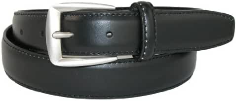 CTM Men's Leather 1 1/4 inch Basic Dress Belt