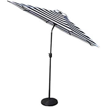 VMI Striped Umbrella, Large, Black