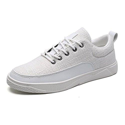 da Tinta da Scarpa Cricket in Unita Tinta Uomo Bianca Sneaker Scarpe Vamp Unita vCdqCX