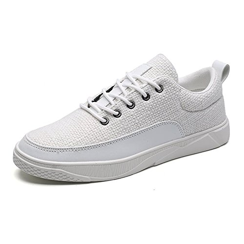 Scarpe da Unita Tinta Uomo Unita Tinta Sneaker Bianca da Cricket Vamp in Scarpa dzqTAd
