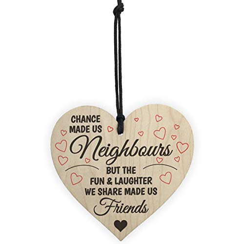 Chance Made Us Colleagues Fun and Laughter Wooden Heart Plaque Wine Tags for Friends Colleagues Family Creative Gifts - Grey