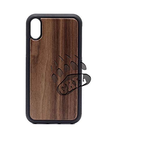 Montana Grizzlies - iPhone XR Case - Walnut Premium Slim & Lightweight Traveler Wooden Protective Phone Case - Unique, Stylish & Eco-Friendly - Designed for iPhone XR