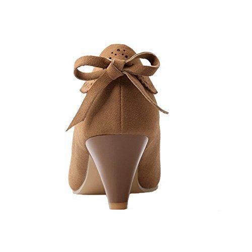 talons talon fermé et Odomolor bout kaki plat givrés 42 Chaussures à chaussures givrées femmes à à pour BBE0w