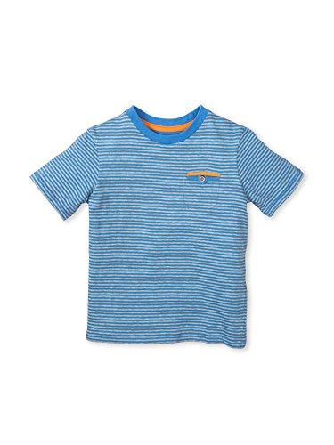 Colored Organics Boys Organic Crew Tee Shirt - Blue Stripe - 5T by Colored Organics