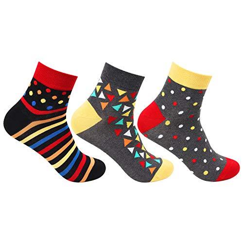 Bonjour Men #39;s Bold Ankle Socks   pack of 3