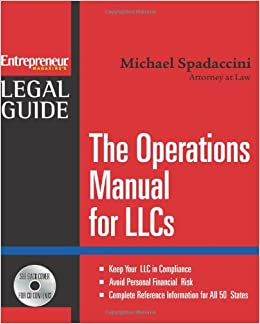 Book The Operations Manual for LLCs (Entrepreneur Legal Guides)