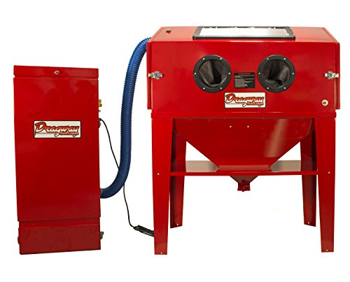 Dragway Tools Model 90 Sandblast Cabinet & Dust Collector, Trigger Gun, Nozzles by Dragway Tools