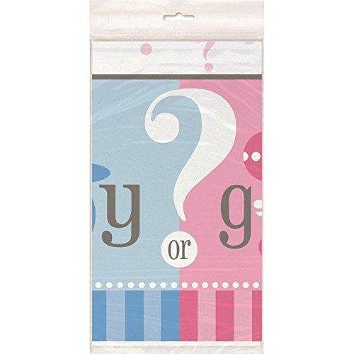 Gender Reveal Plastic Tablecloth, 84