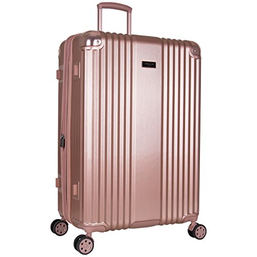 Kenneth Cole New York Tribeca 28-inch Lightweight Hardside Expandable 8-Wheel Spinner TSA Lock Checked Suitcase, Rose Gold