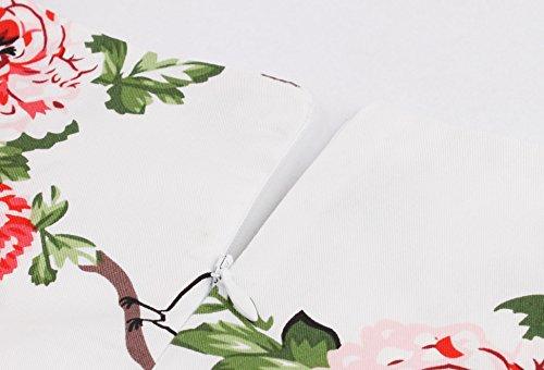 IMUYI Weinlese nobles Blumen Sleeveless Partei Picknick Partei Cocktailkleid 5Floral ZL4YA