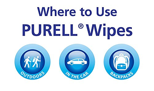 Hand and Face Sanitizing Wipes -3 Refreshing Scent And 3 Fragrance Free Canisters of 40 Count by Purell (Image #7)