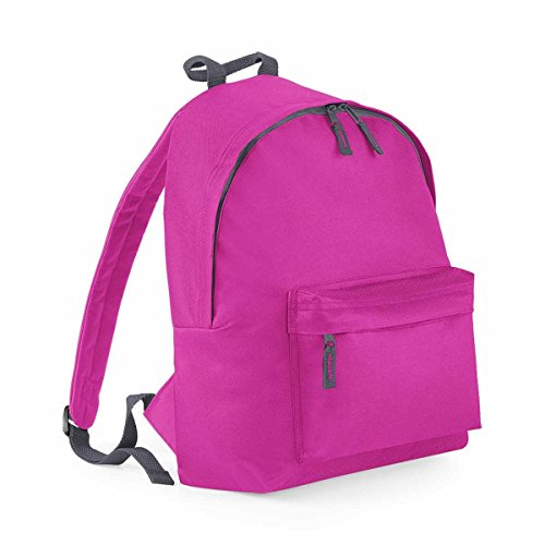 Graphite Fuchsia Bagbase Fashion Grey Backpack Junior AqgHcwzI