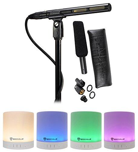 Audio Technica AT875R Shotgun Condenser Microphone w/Line+Gradient DV + Speaker
