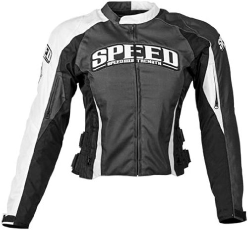 Speed & Strength Womens Throttle Body Textile Motorcycle Jacket Black X-Large