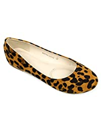 Women's Cute Casual Comfort Slip On Round Toe Ballet Suede Flat Shoes