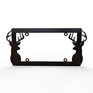 Amazon Com Deer Antlers Hunting Black Powdercoat License