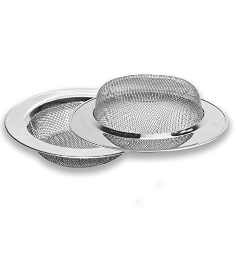 Stainless Steel Kitchen Sink Strainer Mesh Strainer Large Wide Rim 4.5