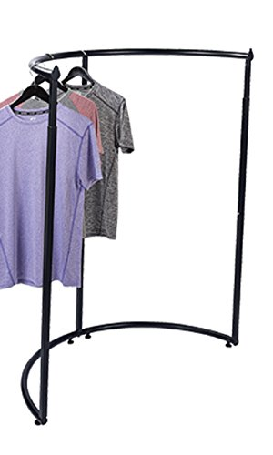 "Half Round Clothing Rack - Black 44""W x 52''-72""H by STORE001"
