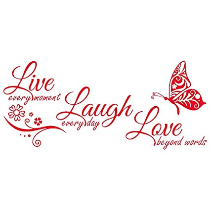 Live Laugh Love Quotes Butterfly Wall Art Stickers Living Room Decal Home Decor Children S Bedroom Child Decor Decals Stickers Vinyl Art Home Garden