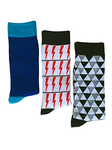 Dress Men's Patterned Casual 3 pack Cotton Diamond SherryDC Pack Socks Lightning Crew 3 Argyle YavwqSxf