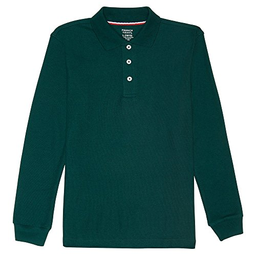 French Toast Little Boys' Long-Sleeve Pique Polo Shirt,
