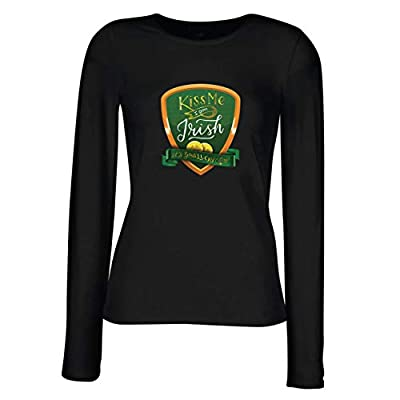 lepni.me Women's T-Shirt Kiss Me I am Irish, It's Your Lucky Day