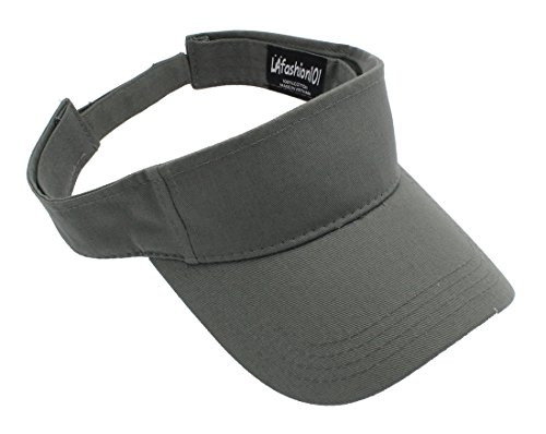 Outdoor Cap Cotton Visor (LAfashion101 Unisex Visor Lightweight & Comfortable - Ideal For Sports & Outdoor Activities - Available In Many Colors, DGY)