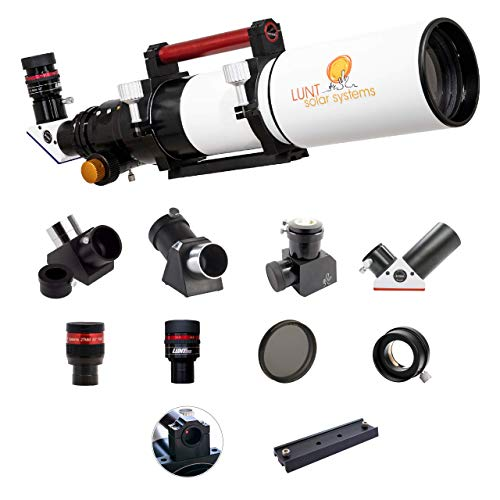 Lunt Solar Systems - Day & Night Professional Telescope, All-in-one 100mm Aperture Refractor Astronomy Kit for Observing The Sun & Space (LS100MT Advanced Package)