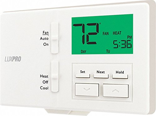 LUX Low Voltage Thermostat, Stages Cool 1, Stages Heat 1