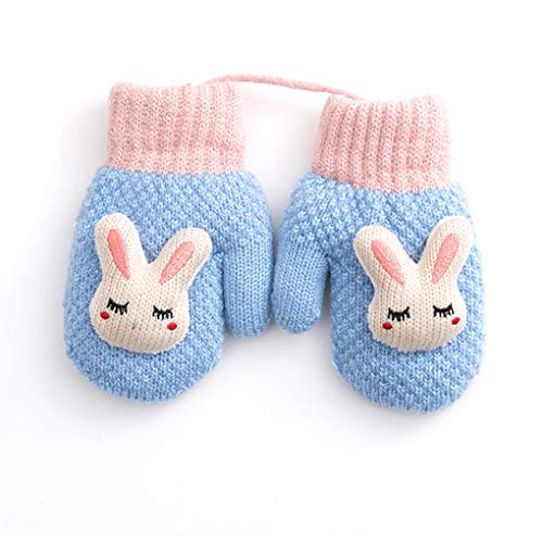 Toddler Baby Knitted Gloves Cute...