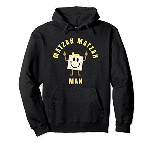 Unisex Matzah Matza Matzo Man Passover Hoodie Sweatshirt 2XL Black