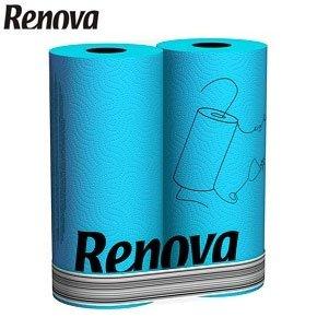 renova blue kitchen roll 2 roll standard pack - Kitchen Roll