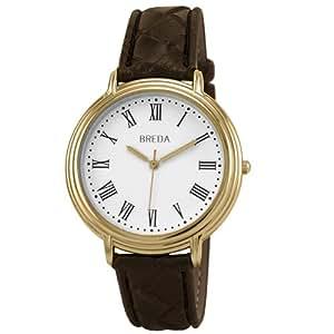 Breda Men's 08931-goldbrn Robert Classic Sleek Brown Watch