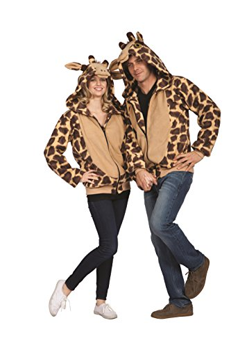 RG Costumes Unisex RG Georgie The Giraffe Hoodie Adult Large, Beige Print, Small 32-34